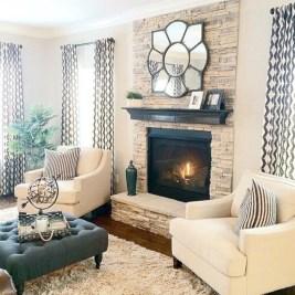 Gorgeous apartment fireplace decor ideas (32)