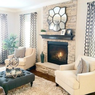 Gorgeous apartment fireplace decor ideas (32)