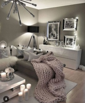Inspiring grey studio apartment decor ideas on a budget (16)