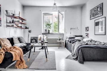 Inspiring grey studio apartment decor ideas on a budget (21)