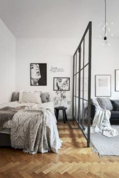 Inspiring grey studio apartment decor ideas on a budget (25)