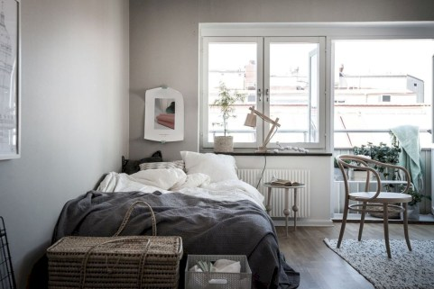 Inspiring grey studio apartment decor ideas on a budget (29)