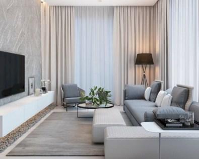 Inspiring grey studio apartment decor ideas on a budget (40)