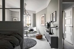 Inspiring grey studio apartment decor ideas on a budget (44)