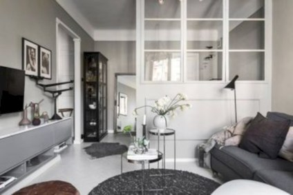 Inspiring grey studio apartment decor ideas on a budget (45)