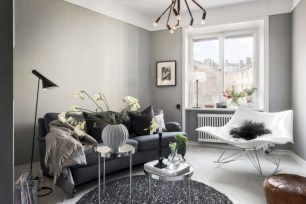 Inspiring grey studio apartment decor ideas on a budget (6)