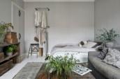 Inspiring grey studio apartment decor ideas on a budget (8)