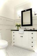 Luxury black and white bathroom design ideas 04