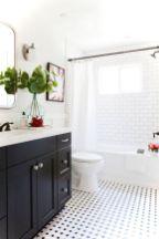 Luxury black and white bathroom design ideas 07