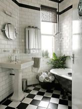 Luxury black and white bathroom design ideas 08