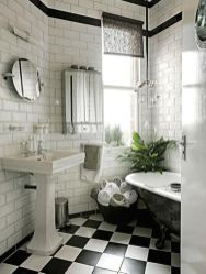 Luxury black and white bathroom design ideas 08