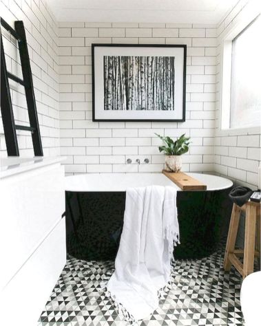 Luxury black and white bathroom design ideas 27