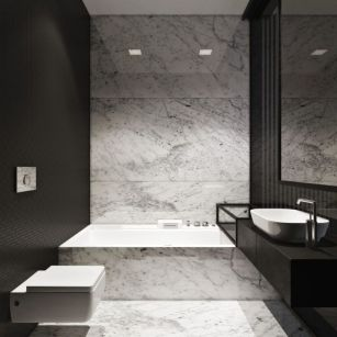 Luxury black and white bathroom design ideas 34