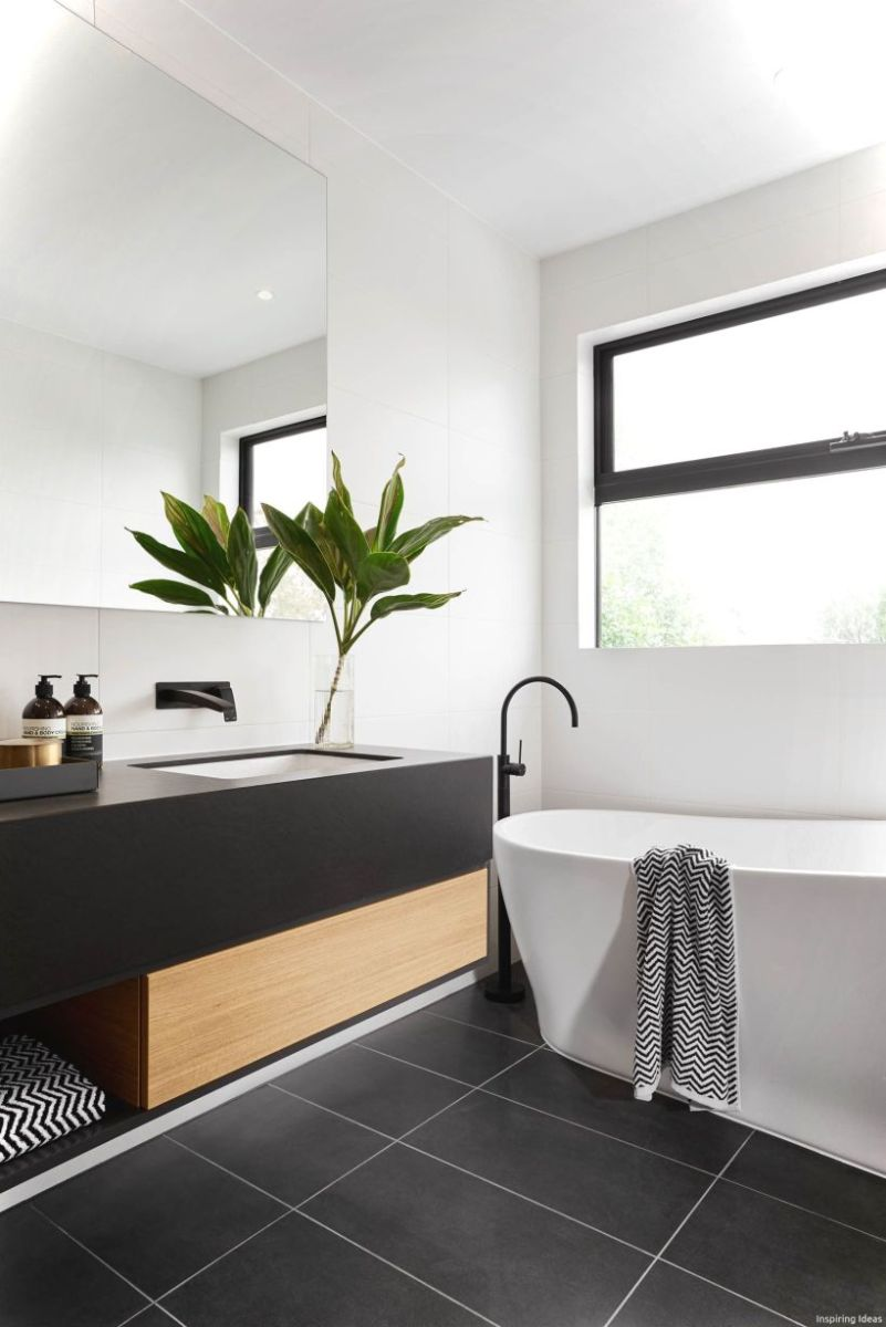 Luxury black and white bathroom design ideas 35
