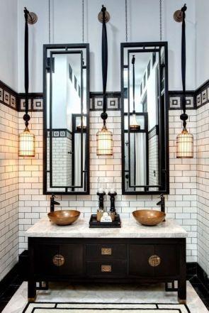 Luxury black and white bathroom design ideas 39