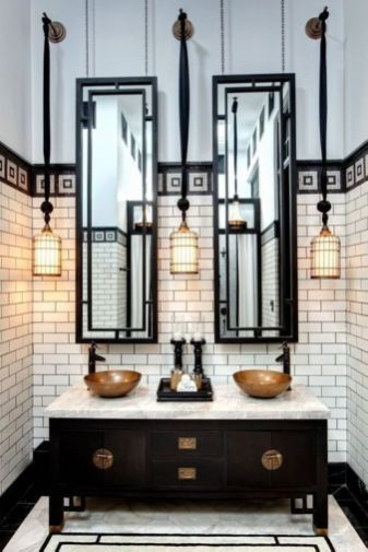 Luxury black and white bathroom design ideas 39