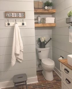 Modern farmhouse bathroom decor ideas (24)