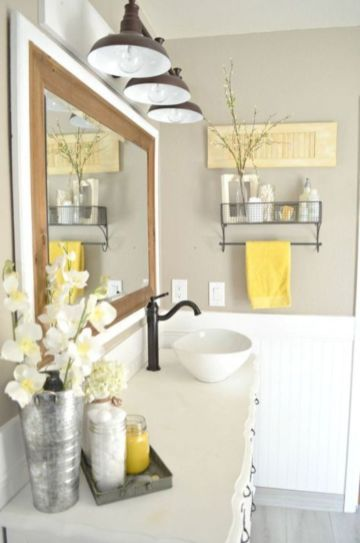Modern farmhouse bathroom decor ideas (31)