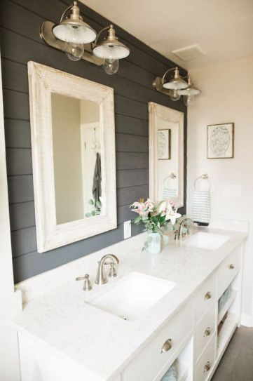 Modern farmhouse bathroom decor ideas (32)