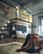 Nice loft bedroom design decor ideas 03