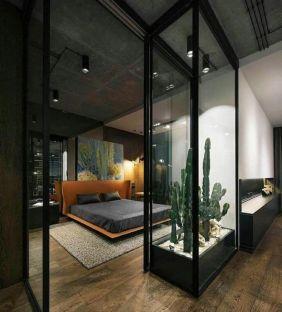 Nice loft bedroom design decor ideas 25