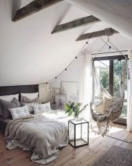 Nice loft bedroom design decor ideas 29
