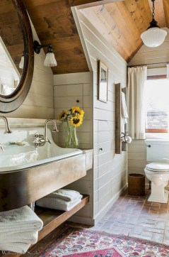 Stunning attic bathroom makeover ideas on a budget 25