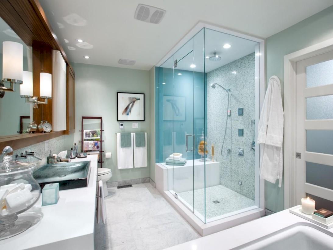 Stunning attic bathroom makeover ideas on a budget 26