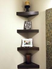 Stunning corner shelves decoration ideas 17
