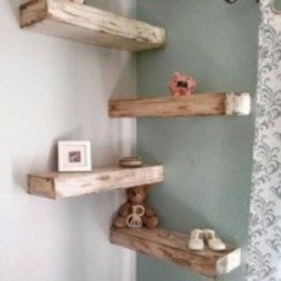 Stunning corner shelves decoration ideas 18