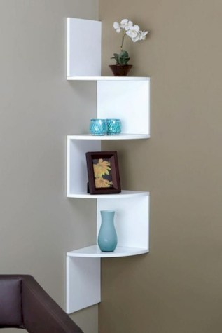 Stunning corner shelves decoration ideas 31