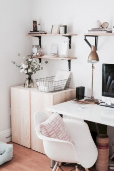 Stunning corner shelves decoration ideas 38