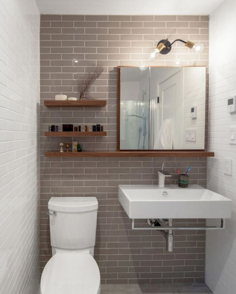 43 Totally Brilliant Tiny House Bathroom Design Ideas