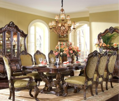 Vintage victorian dining room decor ideas (18)
