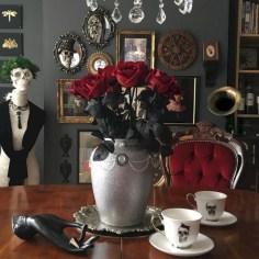 Vintage victorian dining room decor ideas (24)