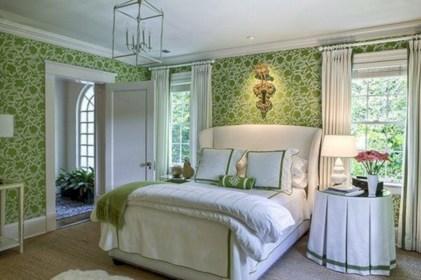 Wonderful green bedroom design decor ideas (12)