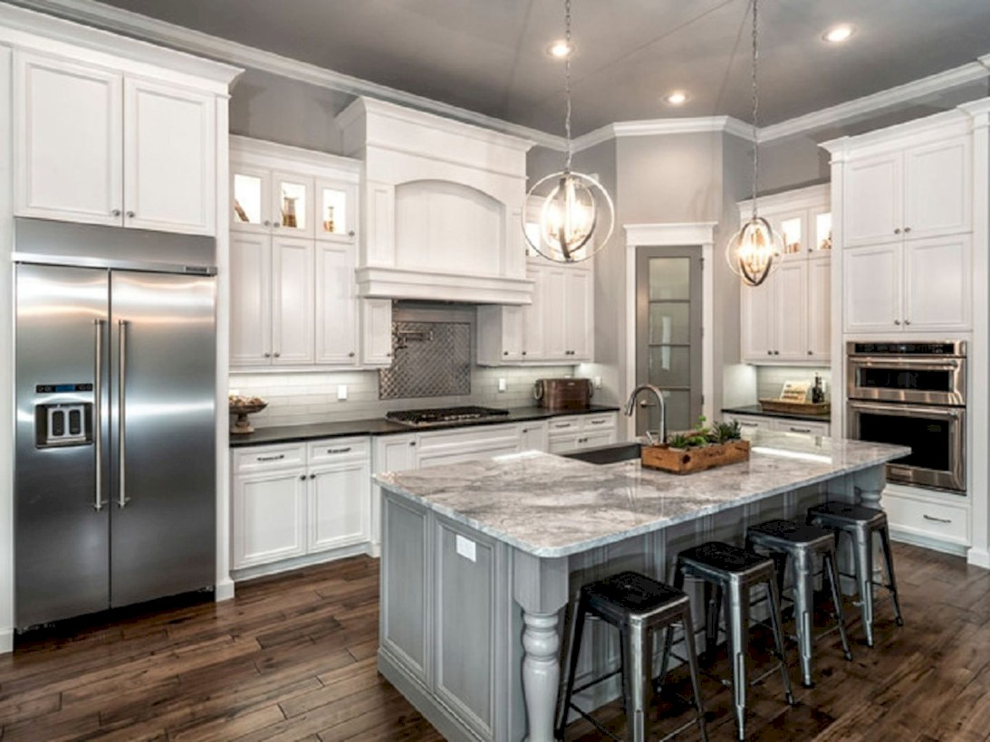 Beautiful gray kitchen cabinets design ideas 04