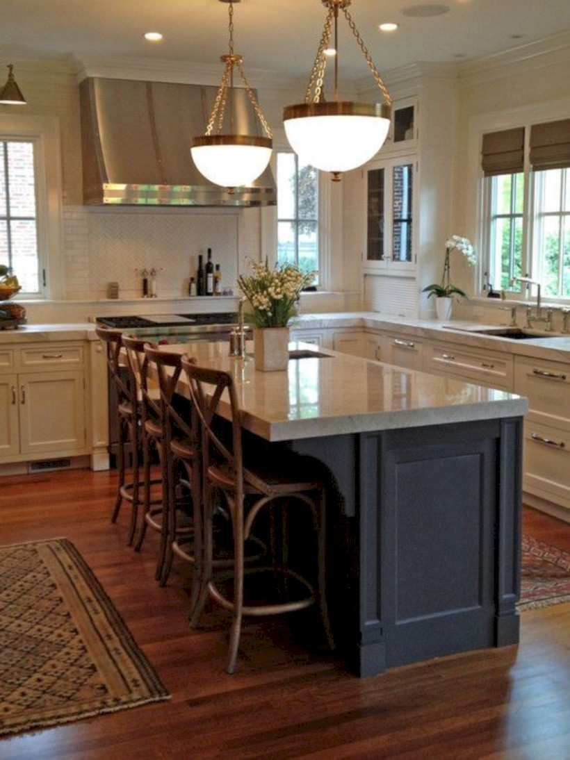 Beautiful gray kitchen cabinets design ideas 08
