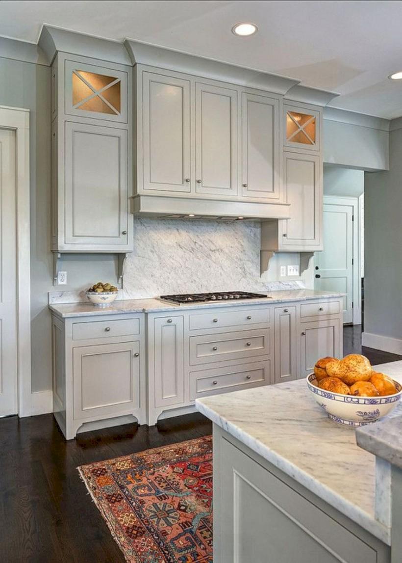 Beautiful gray kitchen cabinets design ideas 11