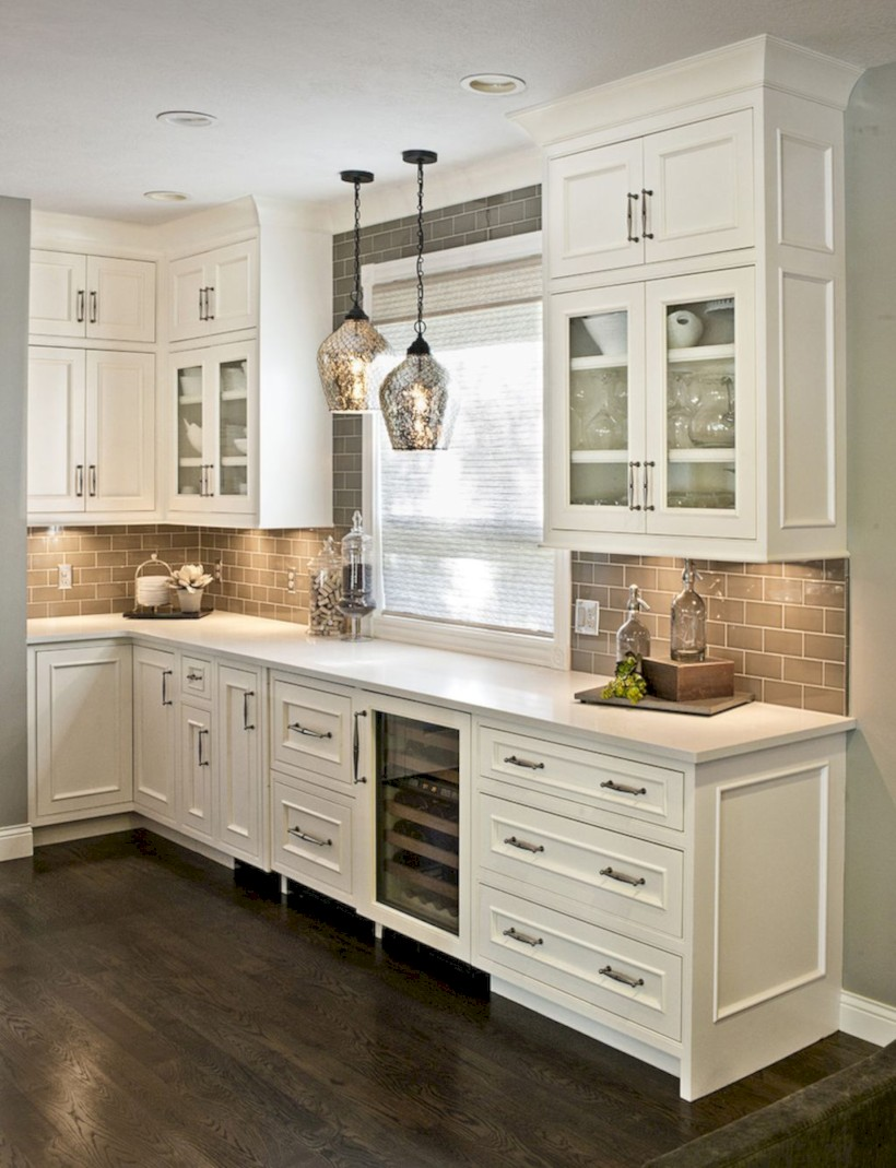 Beautiful gray kitchen cabinets design ideas 14