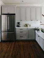 Beautiful gray kitchen cabinets design ideas 17