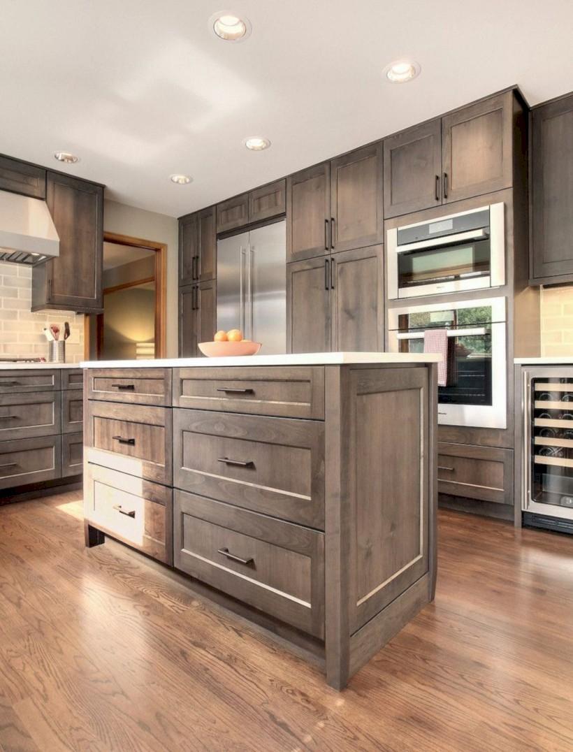 Beautiful gray kitchen cabinets design ideas 24