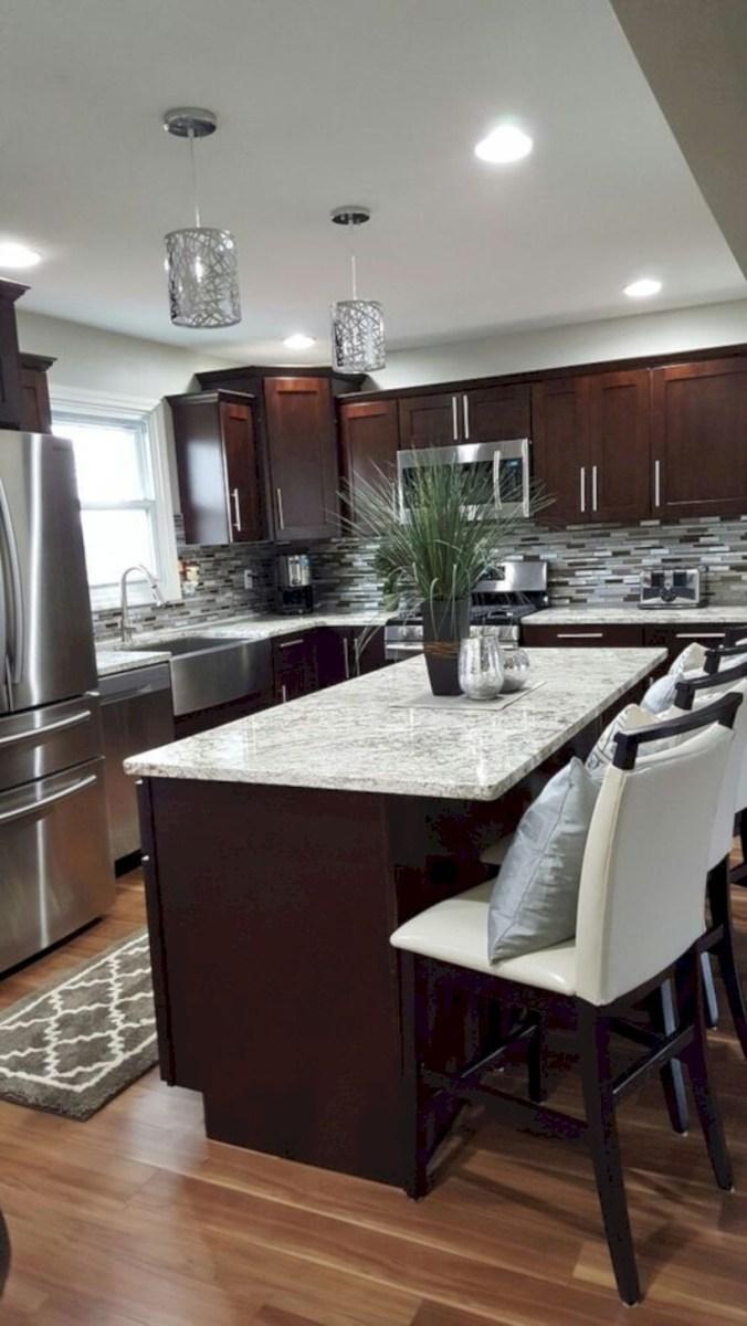 Beautiful gray kitchen cabinets design ideas 31