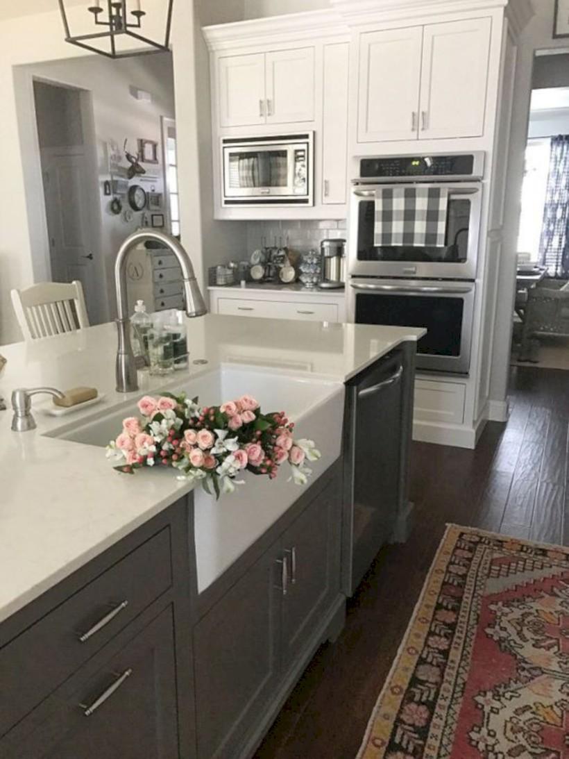 Beautiful gray kitchen cabinets design ideas 33