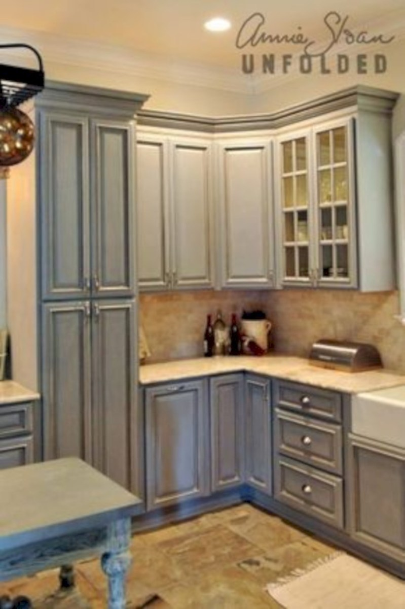 Beautiful gray kitchen cabinets design ideas 40