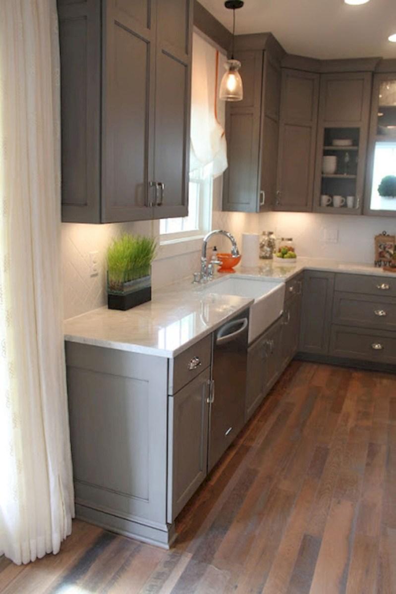 Beautiful gray kitchen cabinets design ideas 42