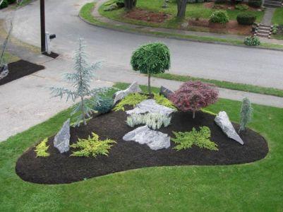 Beautiful rock garden landscaping ideas 12