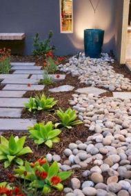 Beautiful rock garden landscaping ideas 13