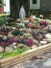 Beautiful rock garden landscaping ideas 14