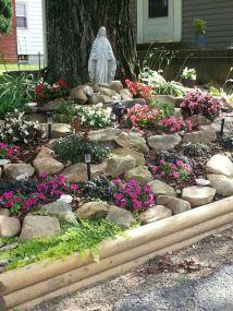 Beautiful rock garden landscaping ideas 14